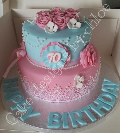 2 tier age cake