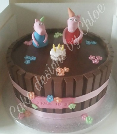 peppa pig in mud