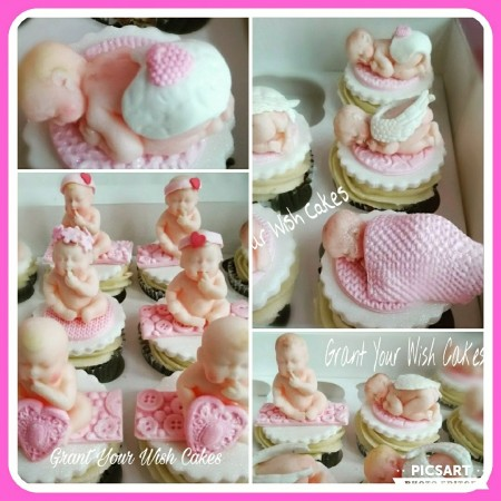 Baby Shower / Christening/ Gender reveal Cupcakes