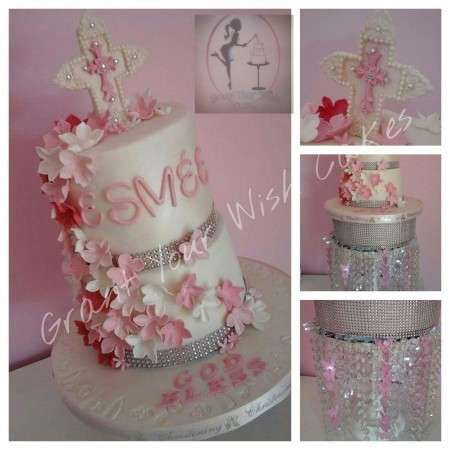 2 tier or more Christening / Baby Shower cake. Boy or Girl/ Can be made Vegan, Dairy Free, or Gluten Free