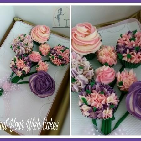 Cupcake Bouquet on presentation board. Vegan, Lactose Free or Gluten Free