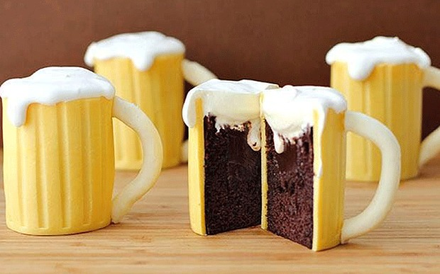 Dad's Mini Beer glass cakes ( can be made Gluten dairy free)