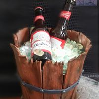 Beer cooler with milk chocolate bottles of Beer, Guinness, Cider ( can be made Gluten, Dairy free)