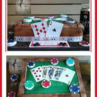 Casino table cake. Can be baked Gluten or lactose free.