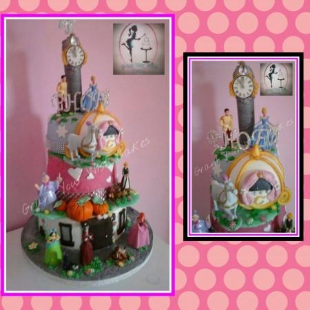 Cinderella 3 tier cake