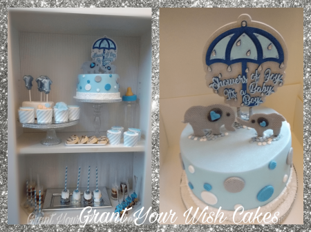 Baby Shower Cake. Colours can be Changed & theme. Can be baked Gluten / Dairy free.