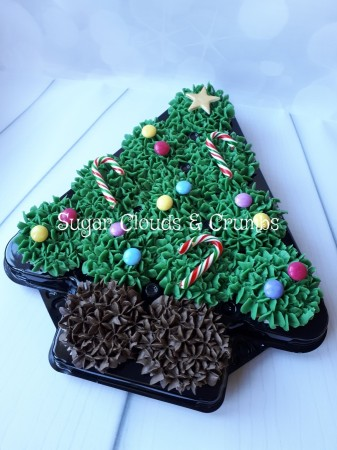 Christmas Tree Cupcake Platter