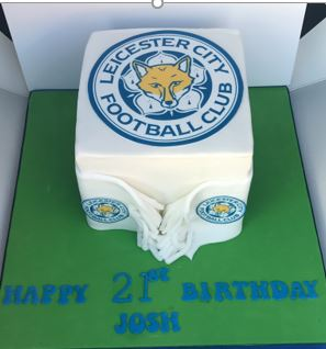 Leicester football theme cake