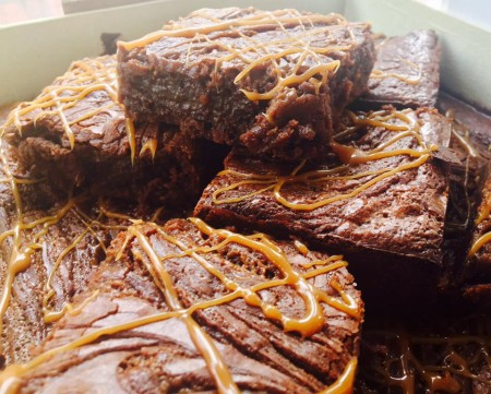 Salted Caramel Brownie - (Gluten Free) Tray of 15