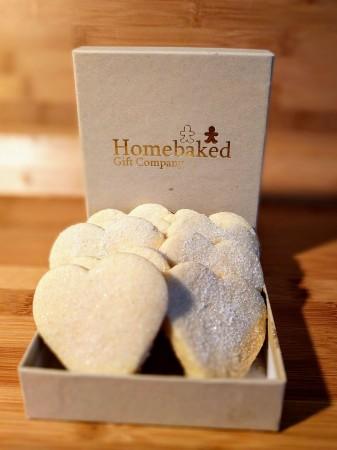 Shortbread Gift Box - Hearts (Box of 4 or 10)
