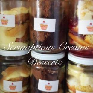 Dessert in a Cake jar-  6 will be supplied