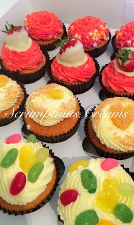 24 Cupcakes  - Bespoke order- 4 flavours- pink and sparkly