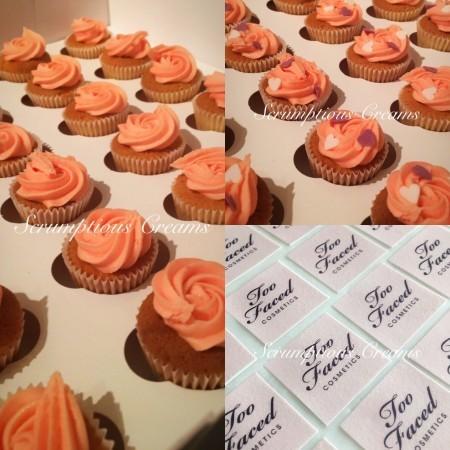 48 mini cupcakes - logo supplied