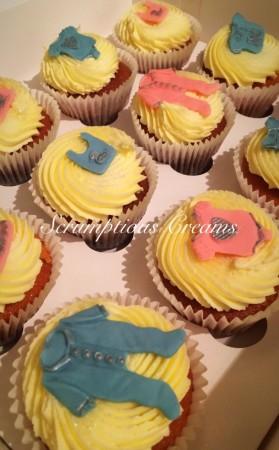 12 GLUTEN FREE gender reveal cupcakes- vanilla flavour