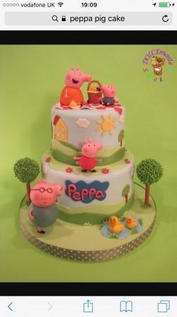 Peppa Pig - bespoke cake