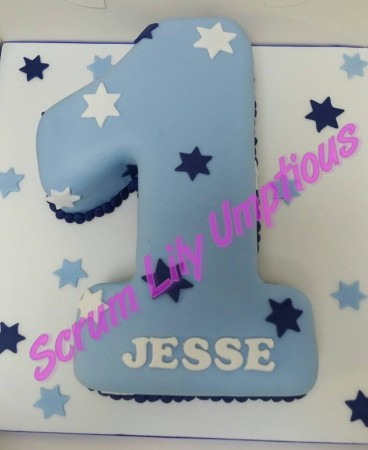 Single number cake