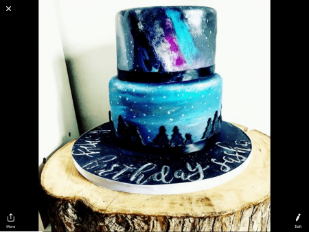 2 tiered Birthday cakes - 2 flavours ( Galaxy theme)