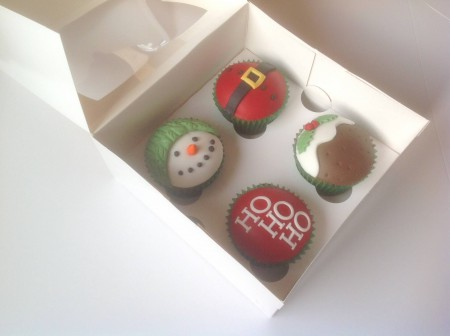 Christmas themed cupcakes