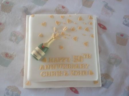 Champagne celebration cake