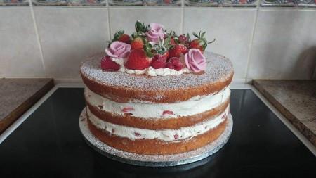Naked Celebration Sponge Cake