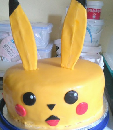 Childrens pokemon birthday cake