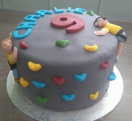 Kids rock climbing cake