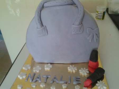 Handbag and lippy cake
