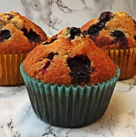 SUGAR FREE: Blueberry Muffins