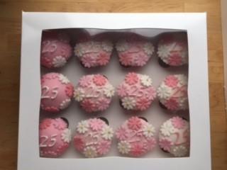 Themed sugar paste cupcakes