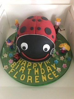Ben and Holly's Gaston Ladybird cake