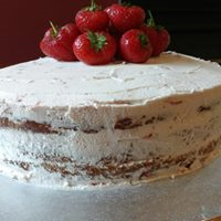 Vegan- naked layer cake