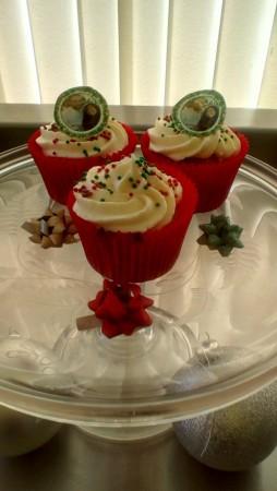 Christmas photo cupcakes