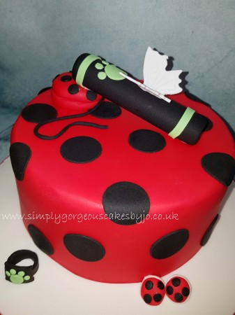 Customer supplied Red spotty cake design