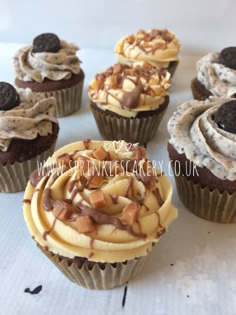 Cookie and Peanut Butter Cupcakes