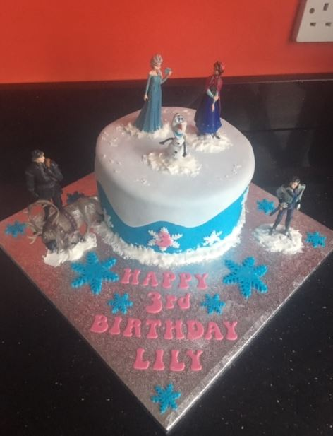 Frozen designed Birthday Cake