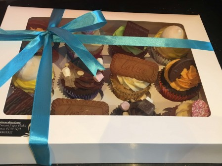 Gift boxed beautiful Selection of flavoured cup cakes