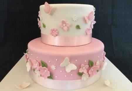 2 Tier Celebration Sponge Cake