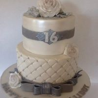 Sweet Sixteen White & Silver Chocolate Cake