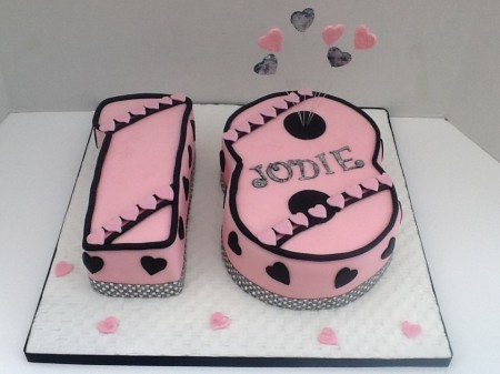 Astounding Glitzy Pink Chocolate Number 18 Cake Julie Craggs Cakes Funny Birthday Cards Online Unhofree Goldxyz