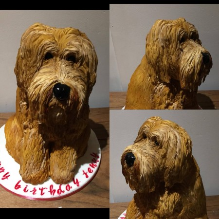 Carved  Dog Cakes