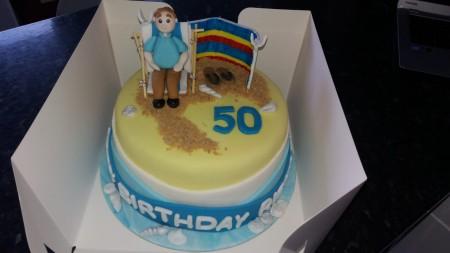 Bespoke Beach theme cake