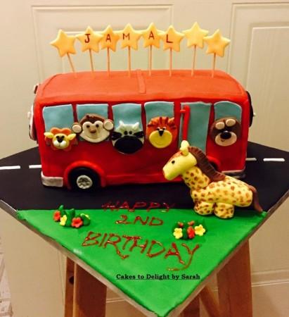 Wheel on the Bus Cake, bus cake