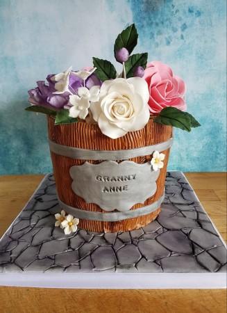 Barrel of flowers