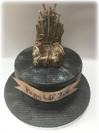 Game of Thrones 'Iron Throne' Cake