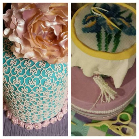 Birthday cake- make it special- simple flowers/butterflies/ lace etc.