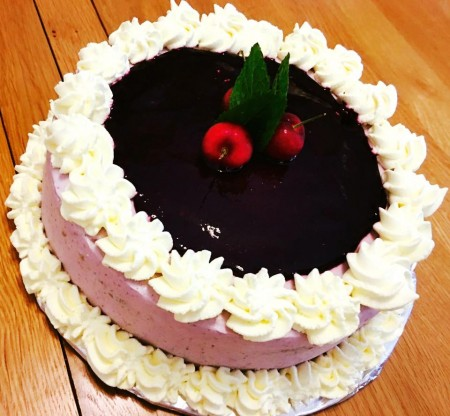 Italian blueberry cheese Gateau