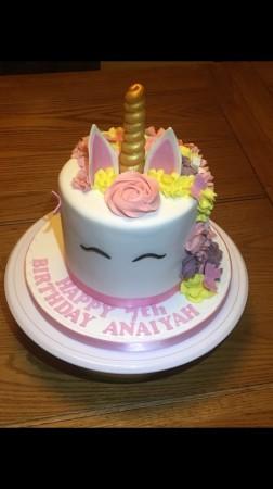 Sponge unicorn cake