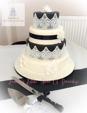 1920's themed wedding cake