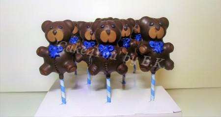 Shaped Cake pops - Teddy Bears