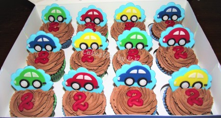 Children's Birthday Cupcakes - Little car theme